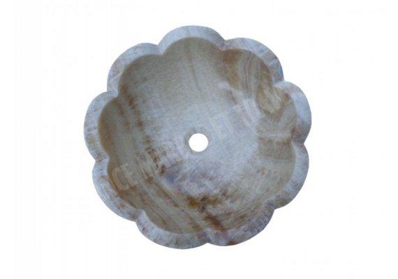 Onyx Miel Vasque Bol Fleur Poli 1