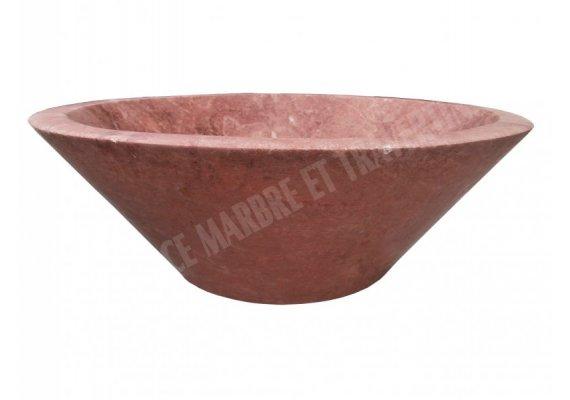 Travertin Rose Rouge Vasque Conique Adouci 1