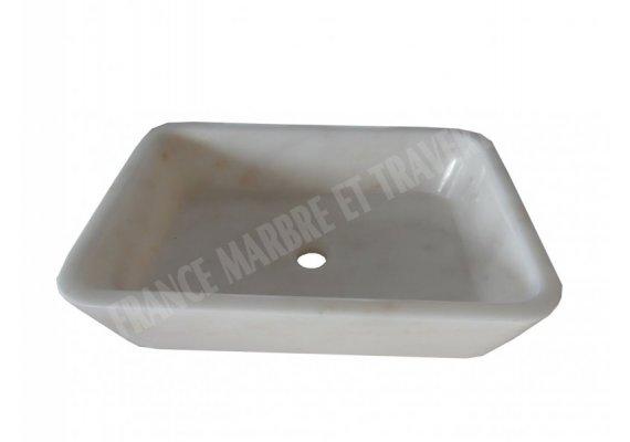 Marbre Afyon Blanc Vasque 50x70x20 cm 1