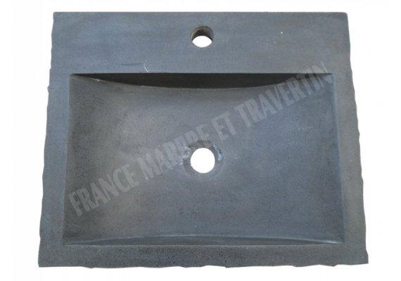 Basalte Noir Evier 48x40 cm Éclate Adouci 1