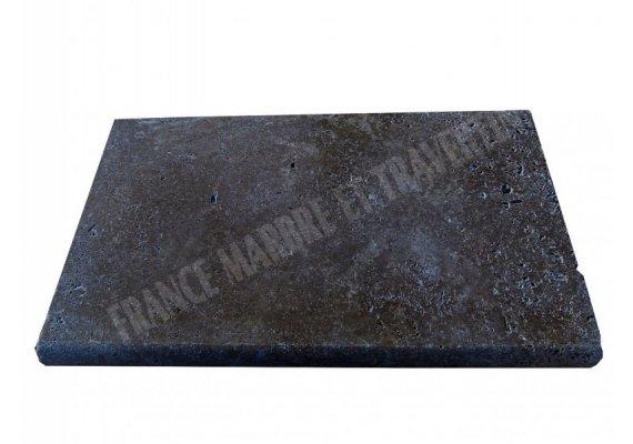 Travertin Noce Nez de Marche 30,5x61x5 cm Arrondi  1