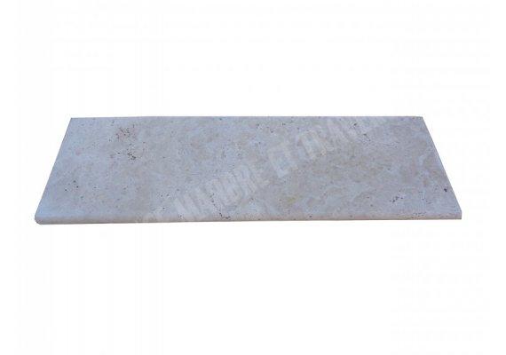 Travertin Classique Nez de Marche 100x33x3 cm Arrondi  1