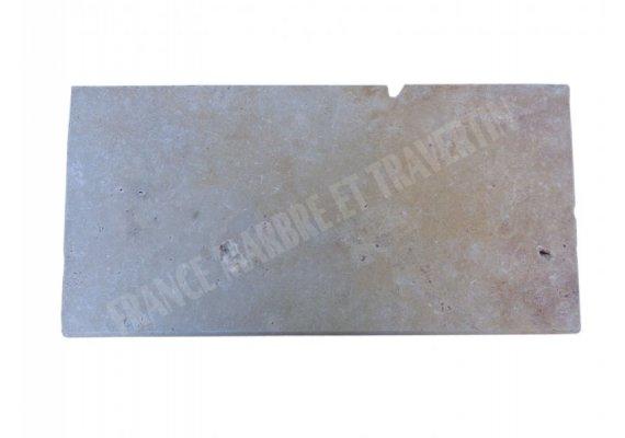 Travertin Classique Nez de Marche 33x61x3 cm Arrondi   1
