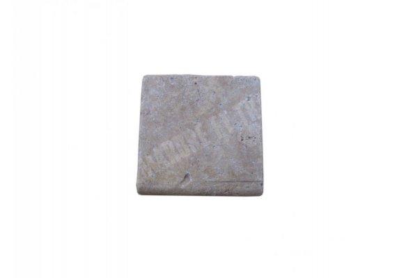Travertin Walnut Nez de Marche 10x10x3 cm Ogee   1